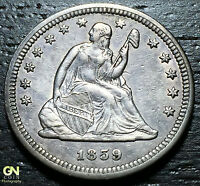 1859 P SEATED LIBERTY QUARTER      MAKE US AN OFFER  G4228