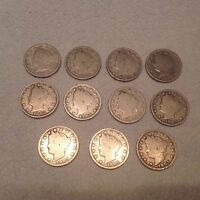 SET OF 11- 1905 VICTORY NICKELS