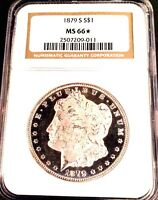 1879-S MORGAN DOLLAR MINT STATE 66NGCSTAR ULTRA WHITE CAMEO DEEP OBVERSE MIRRORS