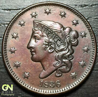 1836 CORONET HEAD LARGE CENT N1 R1        MAKE US AN OFFER  O2919