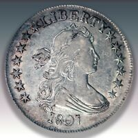 1807 50C DRAPED BUST HALF DOLLAR NGC GRADED EXTRA FINE 45