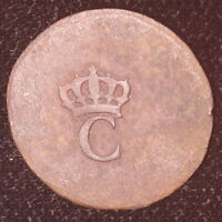 1779 FRENCH COLONIES STAMPEE CROWNED C KM2 M1735