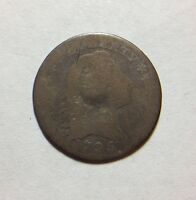 1795 FLOWING HAIR SILVER HALF DIME H10C VG  GOOD TYPE LM-8 R3 KEY DATE