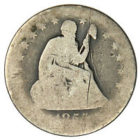 1855 O SEATED QUARTER   WEAK BUT READABLE DATE & MINTMARK   PRICED RIGHT