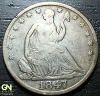 1847 O SEATED LIBERTY HALF DOLLAR      MAKE US AN OFFER  W3177 ZXCV