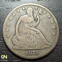 1876 P SEATED LIBERTY HALF DOLLAR      MAKE US AN OFFER  O3052