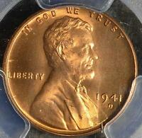 1941 D PCGS MS66 RD LINCOLN CENT UNCIRCULATED GEM WHEAT PENNY 715 SHIPS FREE