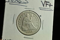 1856 S SEATED LIBERTY QUARTER DOLLAR 25C VF