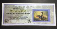 RW67A 2000   2001   US FEDERAL DUCK STAMP   POST OFFICE FRESH
