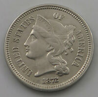 UNITED STATES NICKEL 3 CENTS 1872   JD 709