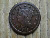 1846 BRAIDED HAIR LARGE CENT LOT 1      REDUCED PRICES ON MY OTHER AUCTIONS