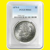 1879 S US MORGAN SILVER DOLLAR PCGS MINT STATE 64