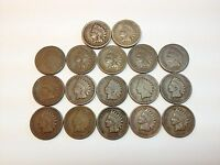 LOT OF MIXED DATES WITH SOME BETTER/KEY DATE INDIAN HEAD PENNIES 1800'S & 1900'S