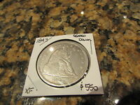 1843 SEATED LIBERTY EARLY US SILVER DOLLAR EAGLE ONE DOL FULL LIBERTY $1