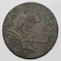 1787 56 N CAMEL HEAD NEW JERSEY COLONIAL COPPER COIN