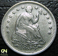 1854 P SEATED HALF DIME      MAKE US AN OFFER  G4370