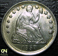 1857 P SEATED HALF DIME BREEN 3084      MAKE US AN OFFER  G4373