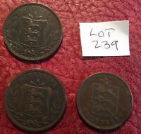 2 X GUERNSEY 1889 8 DOUBLES AND 1830 4 DOUBLES   JOB LOT 239