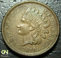 1860 INDIAN HEAD CENT      MAKE US AN OFFER  W4468 ZXCV