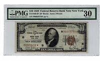 1929 $10 STAR  FEDERAL RESERVE BANK NOTE PMG 30 FR1860 B FRBN TEN DOLLAR