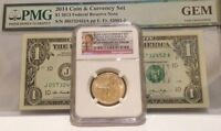 2014 COIN AND CURRENCY SET   SACAGAWEA  2014D SP 69 AND FEDERAL RESERVE NOTE