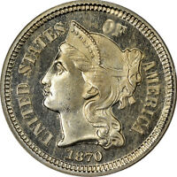 1870 THREE CENT NICKEL NGC PF66 STAR CAMEO   POP 1 ONLY 5 HIGHER