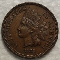 1873 INDIAN CENT CLOSE 3 ORIGINAL ALMOST UNCIRCULATED COIN   1208 31