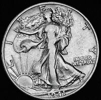 1941 D WALKING LIBERTY HALF.HIGH GRADE 373