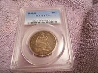 1849 O US SILVER LIBERTY SEATED HALF DOLLAR PCGS VF 35 CERTIFIED ORIGINAL COIN