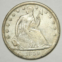 1859 S SEATED HALF DOLLAR   NICE BOLD FULL LIBERTY XF PRICED RIGHT