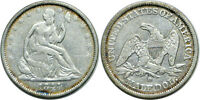 1844 O 50C SILVER SEATED LIBERTY HALF DOLLAR FINE LIGHTLY CLEANED