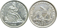 1841 O 50C SILVER SEATED LIBERTY HALF DOLLAR EXTRA FINE LIGHTLY CLEANED