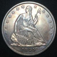 1844 50C LIBERTY SEATED HALF DOLLAR