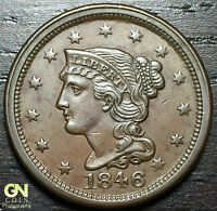 1846 BRAIDED HAIR LARGE CENT N3 R2     MAKE US AN OFFER  O2970