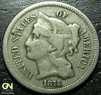 1872 3 CENT NICKEL PIECE      MAKE US AN OFFER  G3241