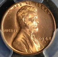 1948 D PCGS MS66 RD LINCOLN CENT 394 GEM UNCIRCULATED WHEAT PENNY SHIPS FREE