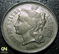 1866 3 CENT NICKEL PIECE      MAKE US AN OFFER  W2885  ZXCV