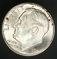 1954 D ROOSEVELT DIME 10C A BEAUTIFUL EXAMPLE UNC GC363