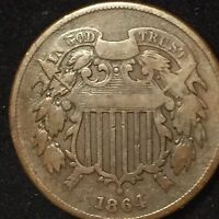 1864 TWO CENT PIECE   GOOD CONDITION