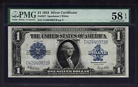 1923 $1 SILVER CERTIFICATE PMG 58 EPQ BLUE SEAL ONE DOLLAR BANK NOTE FR237