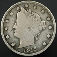1912 D LIBERTY V NICKEL STRONG COIN W/ FULL LIBERTY  7388