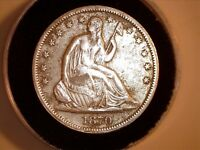 1870  S   SEATED LIBERTY HALF DOLLAR SILVER 50C U.S. COIN A.U.