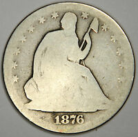 1876 CC SEATED HALF DOLLAR   NICE BOLD DATE & MINT MARK CARSON   PRICED RIGHT
