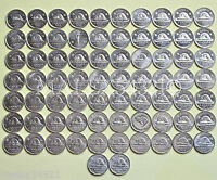 COMPLETE 5 CENTS SET 1953 TO 2016 72 COINS HIGH GRADE CIRCULATED