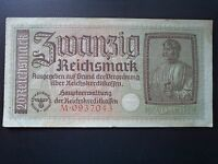 ALLEMAGNE GERMANY NIEMCY BANKNOT 20 REICHSMARK 1939 1944