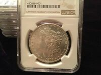 1879-S SILVER DOLLAR IN GEM NGC MINT STATE 65