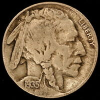 1935 BUFFALO NICKEL DDR 001 DOUBLE DIE REVERSE ERROR VARIETY FIVE CENT COIN M989
