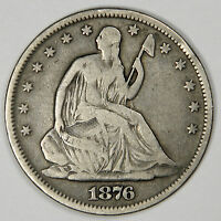 1876 S SEATED HALF DOLLAR   BOLD F/VERY FINE   PRICED RIGHT