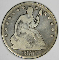 1850 O SEATED HALF DOLLAR   NICE ORIGINAL VG   PRICED RIGHT