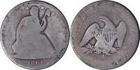 1861 O SEATED HALF   FREE SHIP   OCC2